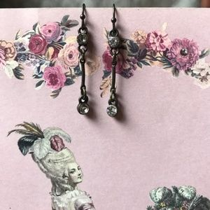LC Lauren Conrad Antique Dangle Earrings Gem Drop